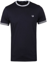 Fred Perry Navy Tipped Ringer T-shirt