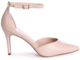 Linzi MACI - Nude Nappa Stiletto Court Heel With Ankle Strap