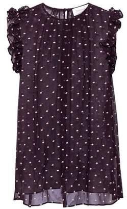 Zimmermann Floral-print Crinkled Silk-georgette Top