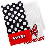 Disney Parks Minnie Mouse Kitchen Dish Towel Set of 2 NEW