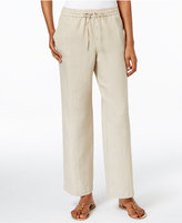 Charter Club Petite Linen Drawstring Pants, Only at Macy's