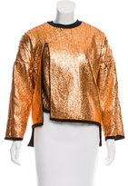 3.1 Phillip Lim Distressed Metallic Sweatshirt w/ Tags