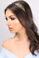 Rare Gold Metallic and Diamante Leaf Headband