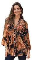 Togther Women's Print Crinkle Blouse