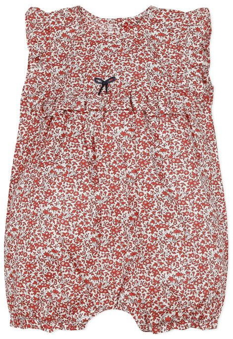 Absorba Baby Girl All in One Shortie Red