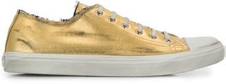 Saint Laurent Metallic Sheen Low-Top Sneakers