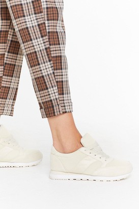 Nasty Gal Womens Keep 'Em On Their Toes Lace-Up Trainers - Beige - 3