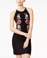 Planet Gold Juniors' Rose-Print Tank Dress