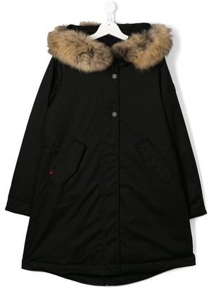 Woolrich Kids TEEN fur trim parka