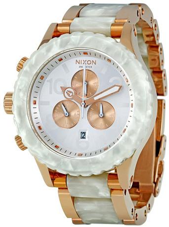 Nixon Chronograph Watch Rose