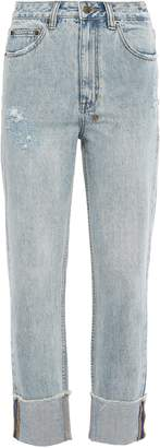 Ksubi Distressed High-rise Straight-leg Jeans