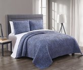 Egyptian Bedding® 3 Piece Simmon CAL (CALIFORNIA) KING Size Denim / Navy Color Luxurious 100% COTTON Wrinkle Free Coverlet Bedspread Quilt Set with Pillow Shams