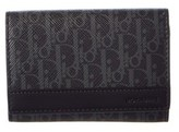 Christian Dior Printed Coated Canvas & Leather Card Holder.