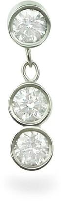 Triad Diamond 18k White Gold Cartilage Stud