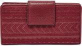 Fossil Emma RFID Leather Tab Clutch Wallet
