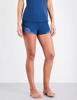 La Perla Souple' cotton-jersey and lace pyjama shorts