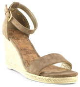 G By Guess Bae Faux Leather Espadrille Wedge Sandals