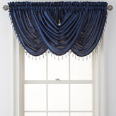 Royal Velvet Plaza Thermal Interlined Rod-Pocket Waterfall Valance