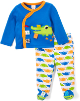 Taggies Blue & Green Gator Cardigan & Footie Pants - Infant
