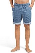 Hanro Harvey Printed Woven Shorts, Blue Multi