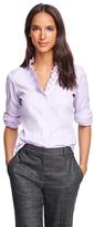 Brooks Brothers Petite Non-Iron Ruffle Collar Dress Shirt
