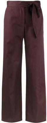 MSGM Side Tie Wide Leg Trousers