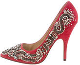 Jean-Michel Cazabat Suede Beaded Pumps