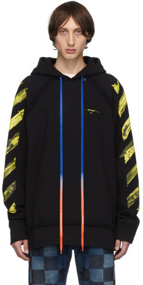 Off-White Off White SSENSE Exclusive Black Arrows Incomplete Hoodie