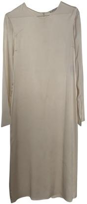 Deitas Ecru Silk Dresses