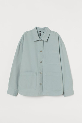 H&M Twill Shacket - Turquoise