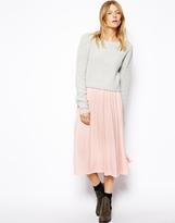 Asos Full Midi Skirt - Pink