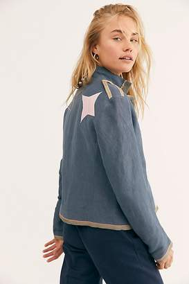 Free People Star Jacket by Brenda Knight for at Free People, Blue, M