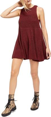 Free People Waterfall Ruffle Sleeveless Sweater Dress