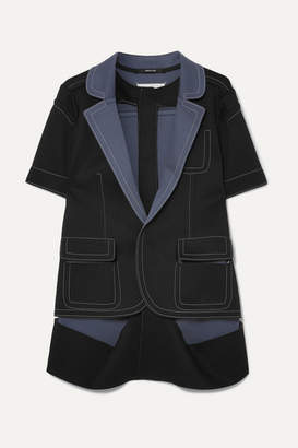 Maison Margiela Two-tone Cutout Bonded Jersey Jacket - Black