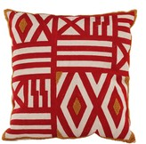 A&B Home 18 x 18 Embroidered Feather Fill Pillow