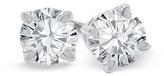 Zales 2 CT. T.W. Diamond Solitaire Stud Earrings in 18K White Gold (I/VS2)