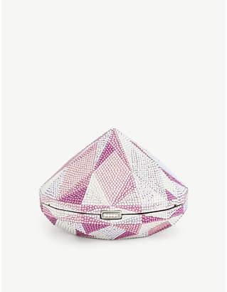Judith Leiber Diamond-shape crystal clutch