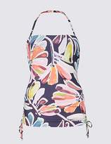 Marks and Spencer Floral Print Padded Bandeau Tankini Top