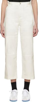 MM6 MAISON MARGIELA Off-White Flare Jeans