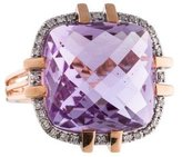 Ring 14K Amethyst & Diamond