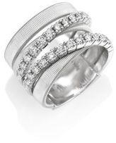 Marco Bicego Masai Diamond & 18K White Gold Five-Strand Ring