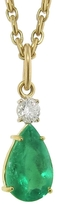 Irene Neuwirth Emerald Teardrop Charm