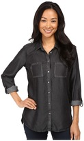 KUT from the Kloth Alexa High-Low Long Sleeve Button Down