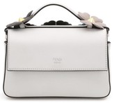 Fendi Flowerland Double Micro Baguette Leather Satchel - White