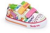 Skechers 'Twinkle Toes - Shuffles' Light-Up Sneaker (Walker & Toddler)