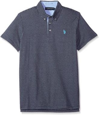 U.S. Polo Assn. Men's Short Sleeve Slim Fit Fancy Jersey Polo Shirt