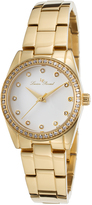 Lucien Piccard Gold & White Crystal LaBelle Bracelet Watch - Women