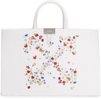 Off-White Arrow Flowers Medium Tote Bag