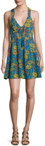 Free People Women's Washed Ashore Floral Print Mini Dress