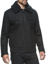 Andrew Marc Concord Pressed Wool Bomber Jacket
